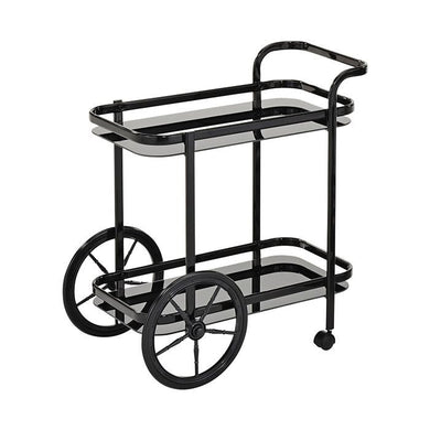 Swing Kroon Bar Cart W/ Coach Wheel - Black - ZOES Kitchen
