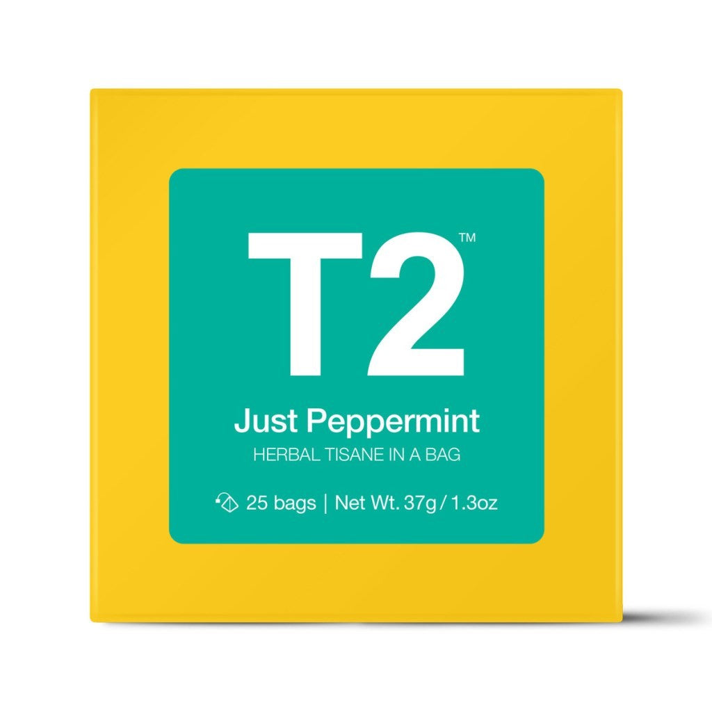 T2 Teabags - Just Peppermint Bio Tbag 25pk Y/B - ZOES Kitchen