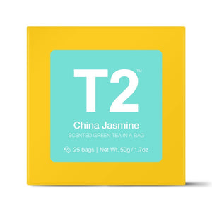 T2 Teabags - China Jasmine Bio Tbag 25pk Y/B - ZOES Kitchen