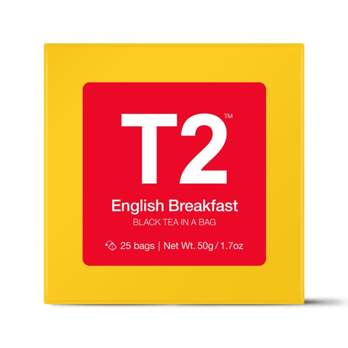 T2 TEABAGS - ENGLISH BREAKFAST BIO TBAG 25PK Y/B