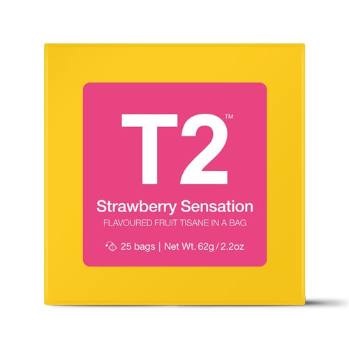 T2 Teabags - Strawberry Sensation Bio Tbag 25pk Y/B - ZoeKitchen