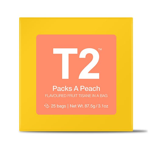 T2 Teabags - Packs A Peach Tbag 25pk Y/B - ZoeKitchen