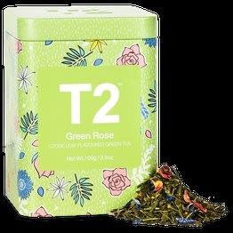 T2 LIMITED EDITION - GREEN ROSE 100G TIN 2019 - ZoeKitchen