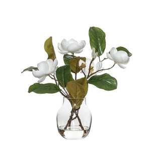 Rogue Chinese Magnolia Spray Adina Vase 34cm White BOM