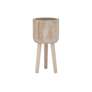 Rogue Dansk Cylinder Planter w/Legs 37cm Natural