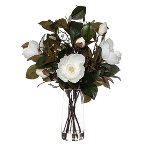 Rogue Grand Magnolia Mix Alana Vase 80cm White BOM