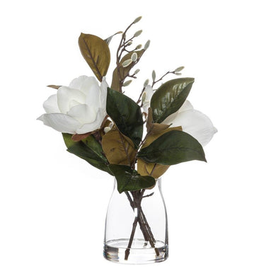 Rogue Magnolia Mix-Stella Vase White/Glass 37x30x48cm