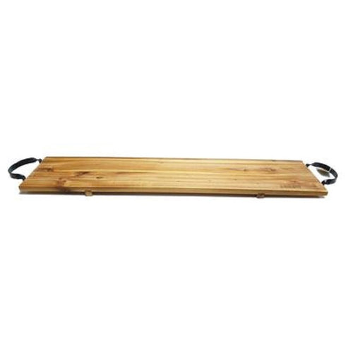 Classica Acacia Board with Black Steel Handles- 60 x 20cm - ZOES Kitchen