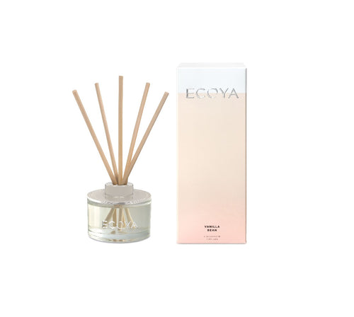 Ecoya Mini Reed Diffuser 50ml - Vanilla Bean - ZOES Kitchen