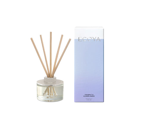 Ecoya Mini Reed Diffuser 50ml - Coconut & Elderflower - ZOES Kitchen