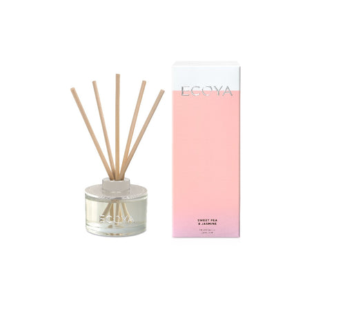 Ecoya Mini Reed Diffuser 50ml - Sweet Pea & Jasmine - ZOES Kitchen