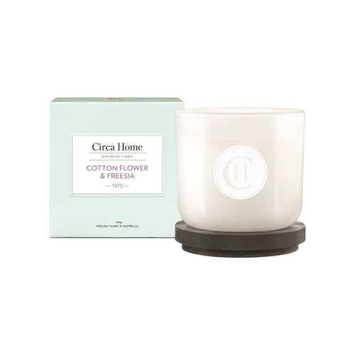 circa home classic candle 260g - 1975 cotton flower & freesia - ZoeKitchen