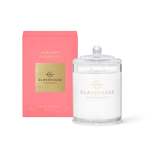 GLASSHOUSE FRAGRANCE - 380G CANDLE - FOREVER FLORENCE - ZoeKitchen