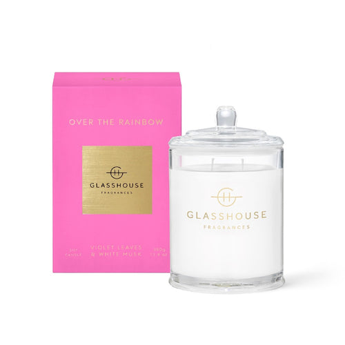 GLASSHOUSE FRAGRANCE - 380G CANDLE - OVER THE RAINBOW - ZoeKitchen