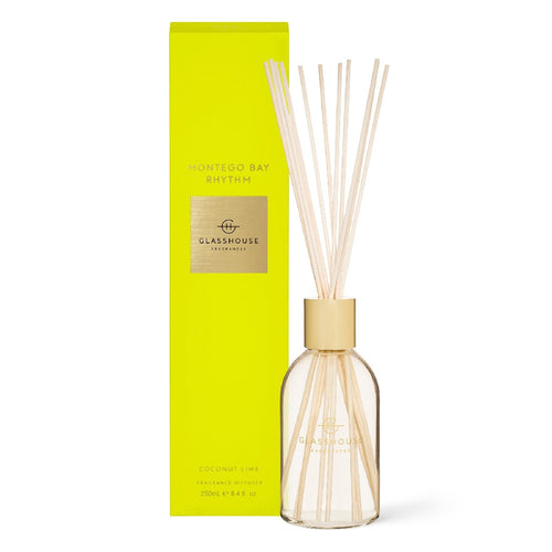 glasshouse fragrance - 250ml diffuser - montego bay rhythm - ZoeKitchen
