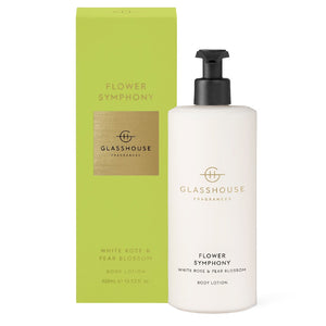 GLASSHOUSE FRAGRANCE - 400ML BODY LOTION - FLOWER SYMPHONY - ZoeKitchen
