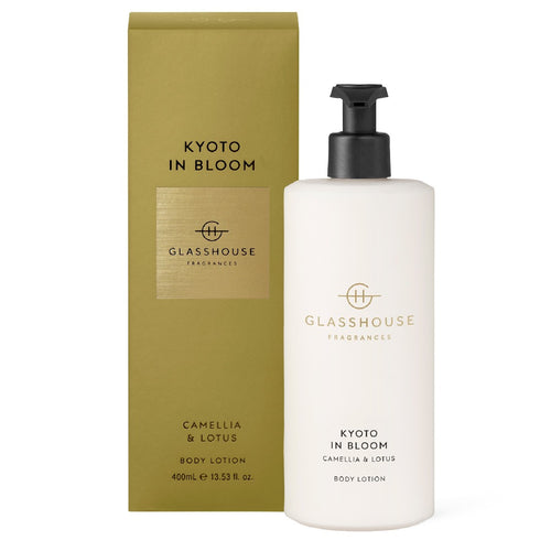 GLASSHOUSE FRAGRANCE - 400ML BODY LOTION - KYOTO IN BLOOM - ZoeKitchen