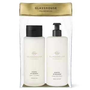 Glasshouse Fragrance - 800ml Body Set - Kyoto In Bloom - ZOES Kitchen