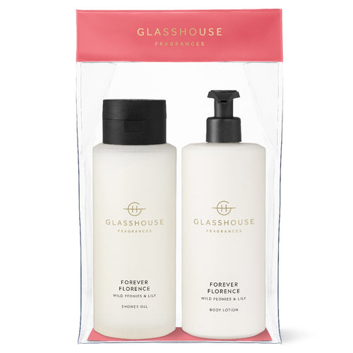 GLASSHOUSE FRAGRANCE - 800ML BODY SET - FOREVER FLORENCE - ZoeKitchen