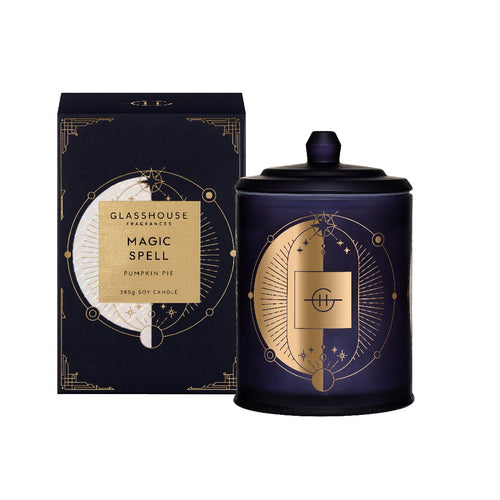 Glasshouse Fragrance - 380g Candle - Magic Spell, Pumkin Pie - Limited Edition - ZoeKitchen