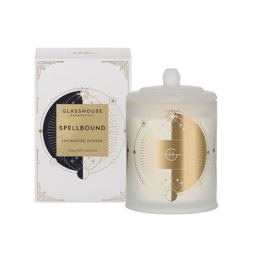 Glasshouse Fragrance - 380g Candle - Spellbound, Enchanted Embers - Limited Edition - ZOES Kitchen