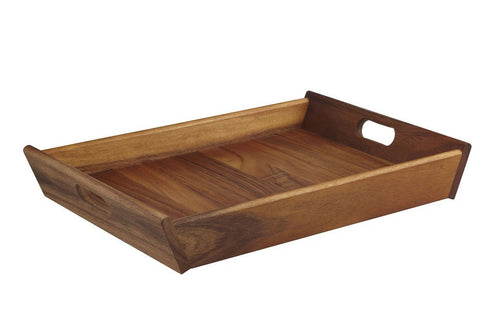 D&W Acacia Wood Serving Tray Rect - ZOES Kitchen