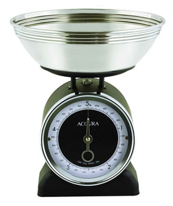 Accura Neptune Mechanical kitchen Scale 5kg Black - ZoeKitchen