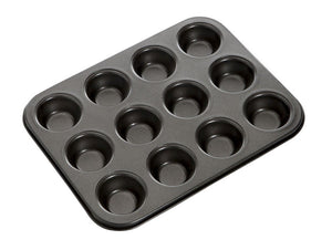 MASTER PRO N/S 12 HOLE MINI MUFFIN PAN