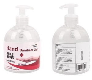 hand sanitiser 500ml pump bottle
