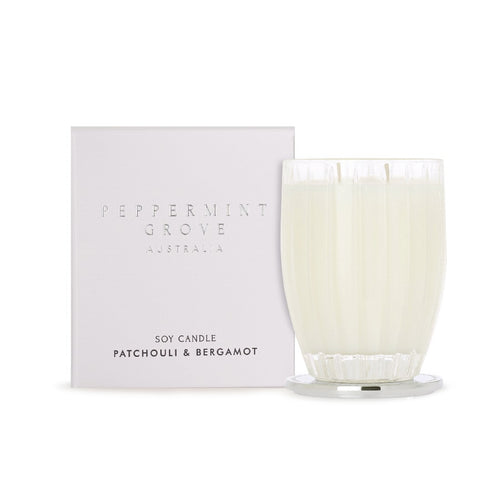PEPPERMINT GROVE CANDLE 350G - PATCHOULI & BERGAMOT