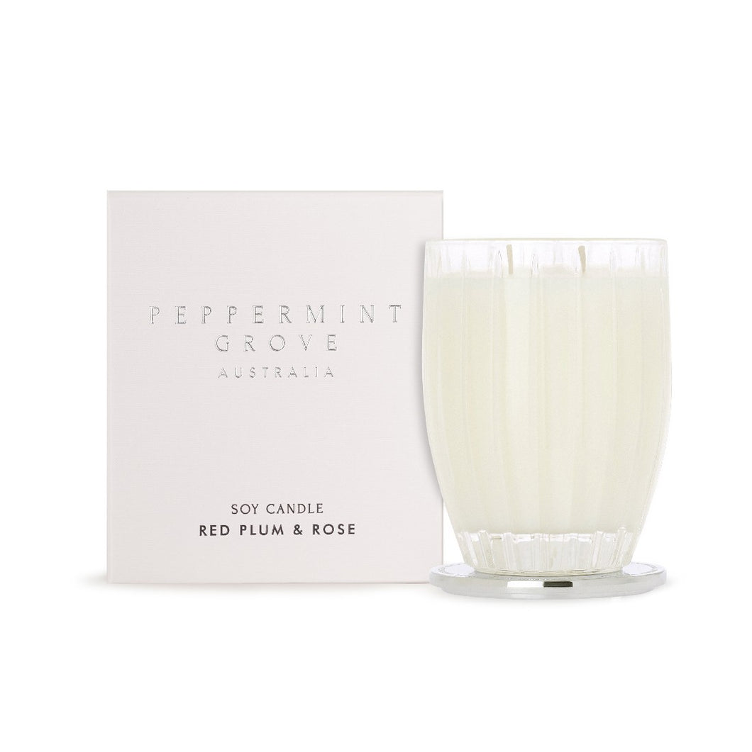 Peppermint Grove Candle 350g - Red Plum & Rose - ZOES Kitchen