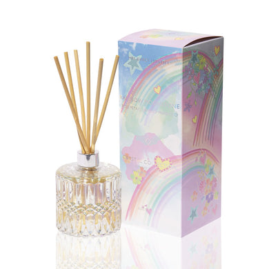 Mrs Darcy Crystal Diffuser : Rainbow Moonstone - Rose Petals, Lemon & Prosecco