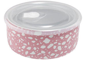 Ladelle Prep Microwave Food Bowl 16cm - Abode Pink Terrazzo - ZOES Kitchen