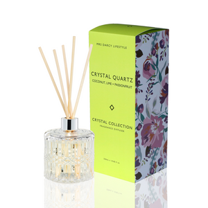 Mrs Darcy Crystal Diffuser : Crystal Quartz - Coconut, Lime & Passionfruit - ZOES Kitchen