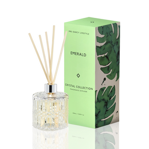 Mrs Darcy Crystal Diffuser : Emerald - Oakmoss, Sandalwood & Vanilla - ZOES Kitchen