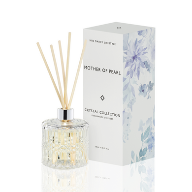 Mrs Darcy Crystal Diffuser : Mother Of Pearl - Lemongrass & Coconut - ZOES Kitchen