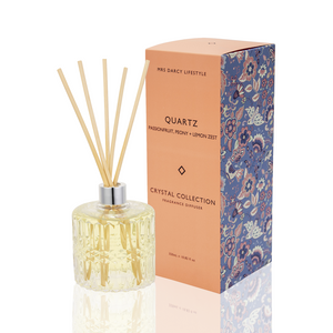 Mrs Darcy Crystal Diffuser : Quartz - Passionfruit, Peony & Lemon Zest - ZOES Kitchen