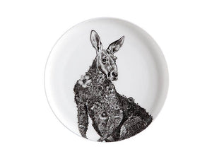 maxwell & williams marini ferlazzo plate 20cm red kangaroo gift boxed - ZoeKitchen
