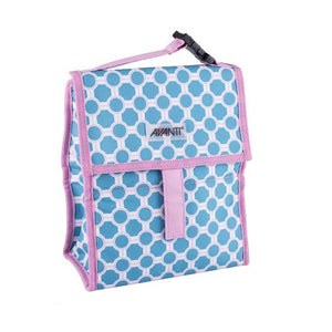 Avanti Yum Yum Lunch Cooler Bag - Lattice Blue/Pink - ZoeKitchen