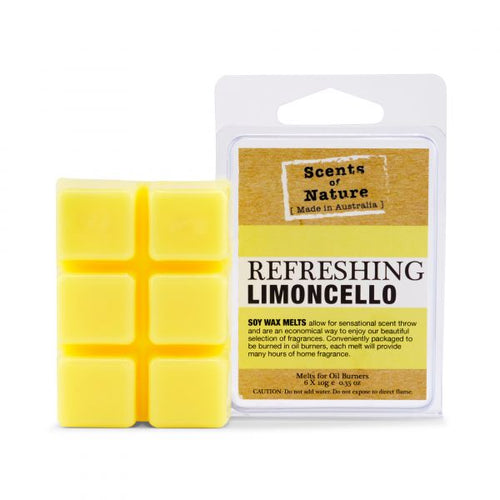 tilley scents of nature - soy wax melts 60g - refreshing limoncello - ZoeKitchen