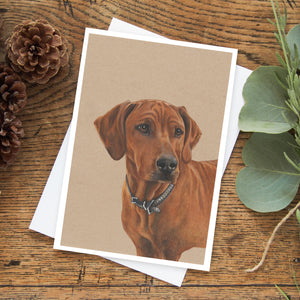 Luna the Rhodesian Ridgeback Greeting Card