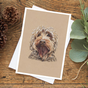 Ollie the Labradoodle Greeting Card