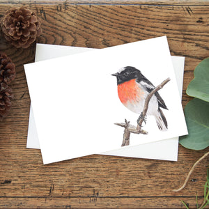 Scarlet Robin Greeting Card