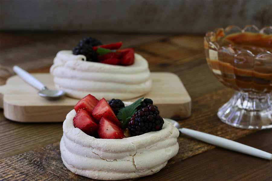 Cooking with Anita Marcela: Pavlova Baskets of Berries