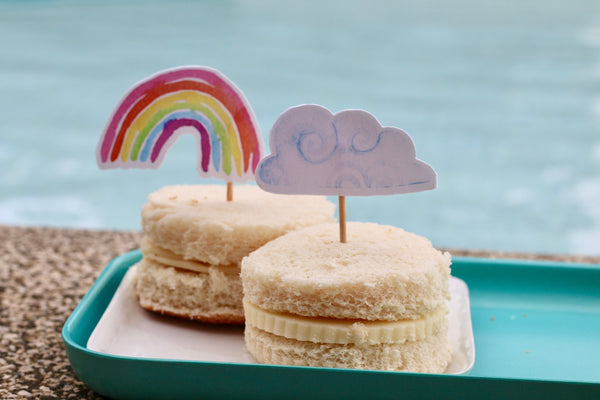 Rainbow and Cloud Cupcake Topper