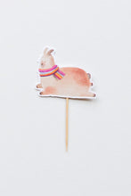 Load image into Gallery viewer, Llama Cake Topper from our Llamas Party theme