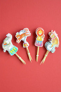 A pack of 24 cupcake toppers from Circus Collection