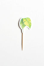 Load image into Gallery viewer, Light green leaf cupcake topper wild jungle party theme