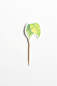 Light green leaf cupcake topper wild jungle party theme