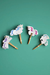 Set of 24 unicorns cupcake toppers